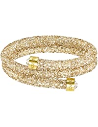 Swarovski Crystaldust Double Bangle, Golden