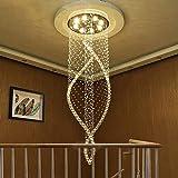 AXCJ Kronleuchter - Kronleuchter von Crystal Chandelier - S, Wendeltreppe, Villa, Duplex Kronleuchter: eine Treppe,C: 60 * 200 cm