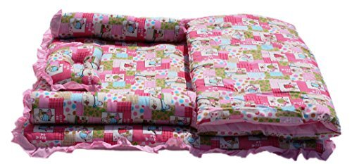 Amardeep and Co Baby Mattress with Quilt Animal (Pink) - MT 03-Pink-Floral
