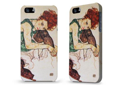 """Hülle / Case / Cover für iPhone 5 und 5s - """"Seated woman"""" von Egon Schiele"""