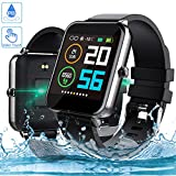 Smartwatch, Zagzog 1,54 Zoll Voller Touch Screen Bluetooth Smartwatch Wasserdicht IP68 Fitness Tracker GPS Sportuhr Armband Pulsuhren Schrittzähler Herren Damen Smartwatch Kompatibel für IOS Android