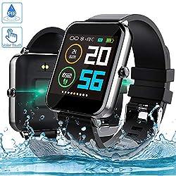 Smartwatch, Zagzog 1,54 Zoll Voller Touch Screen Bluetooth Smartwatch Wasserdicht IP68 Fitness Tracker GPS Sportuhr Armband Pulsuhren Schrittzähler Smartwatch Kompatibel für IOS Android