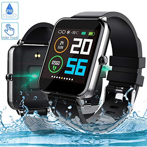 Smartwatch, Zagzog 1,54 Zoll Voller Touch Screen Bluetooth Smartwatch Wasserdicht IP68 Fitness Tracker GPS Sportuhr Armband Pulsuhren Schrittzähler Herren Smartwatch Kompatibel für IOS Android