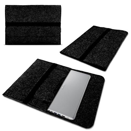 Laptop Tasche Sleeve Hülle für Acer Spin 7 - Spin 5 Notebook Netbook Ultrabook Case aus strapazierfähigem Filz in Dunkelgrau mit praktischen Innentaschen von NAUCI