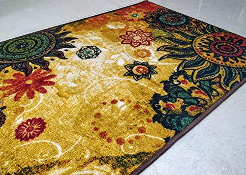 BuyElegant Chakra 1 - Alfombra para Suelo poliéster, Antideslizante, Tacto Suave, 150 x 80 cm, Color...