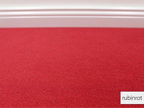 Teppichboden Auslegware Vorwerk Bijou UNI Rubinrot Muster