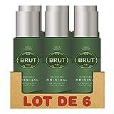 Brut Original Déodorant Homme Spray sans Sels d'Aluminium, Anti-Traces, Efficacité Longue Durée (Lot de 6 x200 ml)