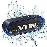 VTIN R4 Cassa Bluetooth 10W Altoparlante Bluetooth 24 Ore Playtime,Bluetooth 5.0 Speaker Portatile Connessione Stabile,Batteria Forte,Impermeabile IPX5,Vivavoce,Supporto TF Carda e 3.5mm Audio