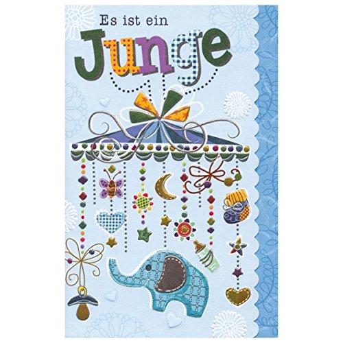 "Susy Card 40009865 Grußkarte zur Geburt/ Junge ""Mobile"", Maße: 17 x 11 x 0, 1 cm"