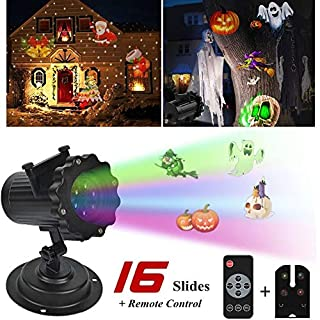 WSSB LED Projector Light 16 Pattern Landscape Lamp Projection For Halloween