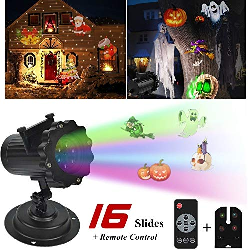 Price comparison product image WSSB LED Projector Light 16 Pattern Landscape Lamp Projection For Halloween