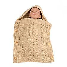 iKulilky Neugeborenes Baby Wrap Swaddle Decke gestrickte Wolle Schlafsäcke Baby Einschlagdecke Kinderwagen Wrap Infant Fotografie Decke Spaziergänger Wrap