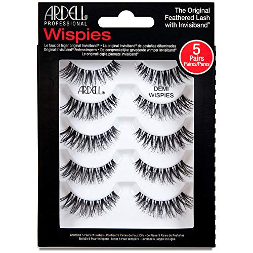 Ardell Wimpern (Ardell Professional 5 Pack Demi Wispies With Free Precision lash Applicator)