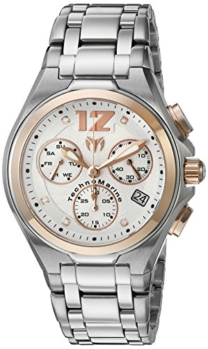 TechnoMarine TM-215014 - Reloj de cuarzo para hombres, color plata