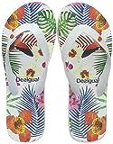 Desigual Shoes (Flip Flop_Tropical), Infradito Donna, Bianco (Blanco 1000) 40 EU