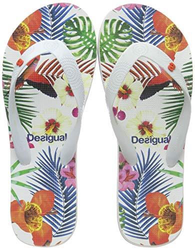 Desigual Shoes (Flip Flop_Tropical), Infradito Donna, Bianco (Blanco 1000), 38 EU