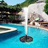 pittospwer Pompa per acquari a Fontana Galleggiante per Vasca da Bagno per Acquario con Serbatoio per Pesci Giardino