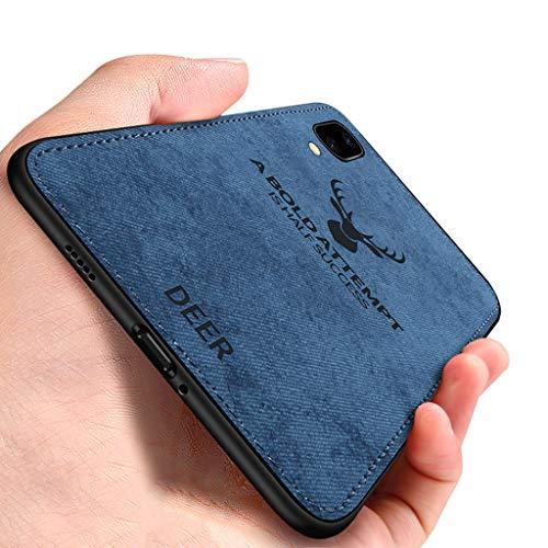 Yoota Vivo Nex S Hülle, Business Luxus Stoff Handyhülle Weiche TPU Kante Stoßfest Handytasche Anti-Rutsch Reinigbare Hybrid Schutzhülle für Vivo Nex S - Blau