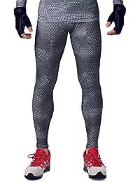 HonourSport Herren Kompressionshose Leggings Cool Base Layer Tights Joggingpants Schwarz Krafttraining Strumpfhose