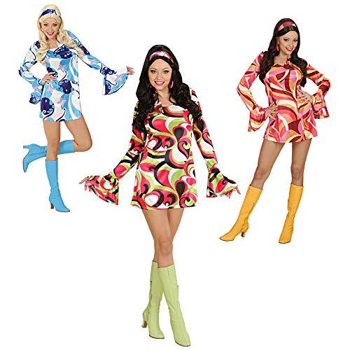 Widmann 58041 - Disco-Kostüm für Damen, Größe S, farblich - 70's Disco Chick Kostüm