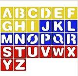 Lvcky 26-Teilig, Kunststoff Buchstabe Schablone Alphabet Schablonen Set Zum Malen Lernen DIY, blau
