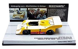 Minichamps 437736592-Porsche 917/10-Snow Nurburgring 1973-1/43-Amarillo/Rojo