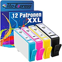 PlatinumSerie® 12x Cartucce compatibile con HP 364XL Black Cyan Magenta Yellow PhotoSmart e-All-in-One 7510 7520 PhotoSmart Wireless e-All-in-One B110A B110 Series B110C B110D B110E B110F DeskJet D5400 Series D5445 D5460 PhotoSmart Wireless B100 Series B109F B109B B109G B109D B109E B109N B109A B109C PhotoSmart Premium TouchSmart Web C309N Fax C309A