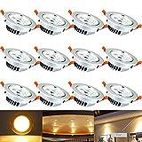 Hengda® 12 x 3W 5W 7W 12W LED Spot Warmweiß 2800-3200k Decken Einbauleuchte Leuchte Einbau Strahler Set Lampen 230V (7 Watts)