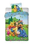 Parure de lit Winnie L'ourson Disney - housse de couette 100% coton