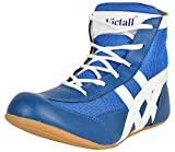 Livia Sports W-R-Blue-301 Match-Star Light Weight & Comfortable ( Blue ) Unisex Shoe For ( Men, Boys, Women, Girls & Junior ) PU Material Non Marking Sole Outdoor Indoor Playing - Best in Wrestling, Boxing, International Kabaddi, Gymnastic (Gym) Sports Shoes ( Blue & White ) (10 INDIA/UK)