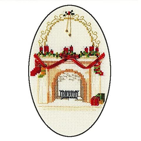 Derwentwater Designs Kamin Weihnachten Card