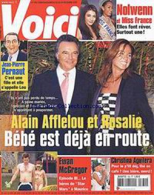 VOICI [No 789] du 23/12/2002 - ALAIN AFFLELOU ET ROSALIE - NOLWENN ET MISS FRANCE - JEAN-PIERRE PERNAUT - EWAN MCGREGOR - CHRISTINA AGUILERA.