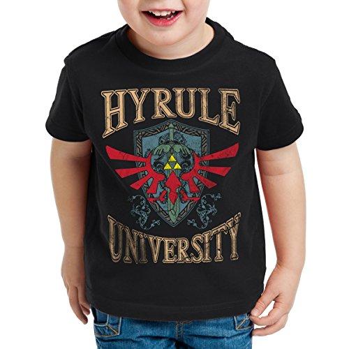 style3 University of Hyrule Kinder T-Shirt, Farbe:Schwarz;Größe:164
