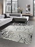 Tapis moderne tapis du salon baroque ornements gris taupe brun Größe 120x170 cm