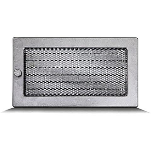 17x30cm Rejilla de lamas Aire rejilla ventilación Chimenea regulable - acero inoxidable - DE