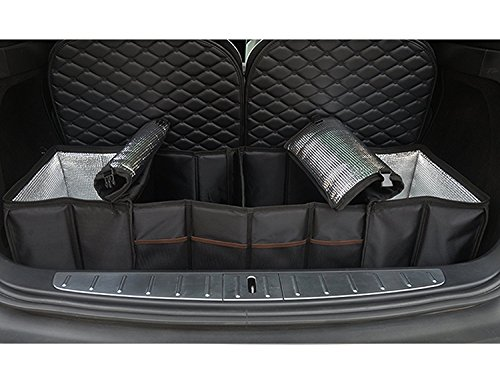 Topfit Baul trasero Organizador Caja para Tesla durable plegable caja de almacenaje de carga para el Tesla Model X y Model S