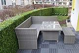 Künstliche Buchsbaumhecke - Kunsthecke Buchsbaum - Naturgetreue Buchsbaumkunsthecke - Kunstbuchsbaumhecke - 1,05 x 1,08 x 0,30 m