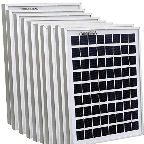 ECOWORTHY 50Watt 10pcs 5W Watt Solar Panel Ploy Solar Module 12V Battery Charger for Caravan Boat Power - Linear Battery Charger Controller