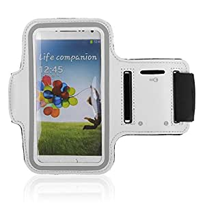 Durable WHITE Sports Running Jogging Gym Armband Arm Band Case Cover Holder for Galaxy s3/s4/s5