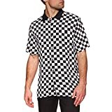 Vans Chemise Checkerboard Camp SS Blanc S (Small)