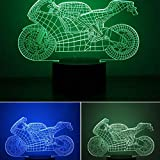 Peony Luce Notturna 3D Colorata Luce Notturna per Motocicletta Protezione per Gli Occhi Luce a LED Comodino Luce Notturna Decorazione per la casa Regalo di Compleanno