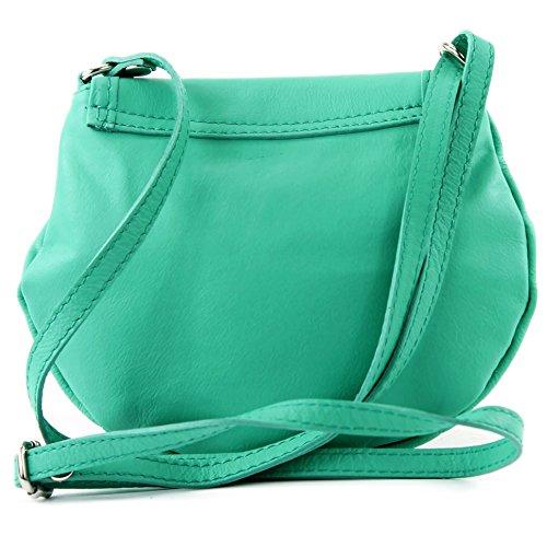 ModaModa–Italiana. Custodia in pelle borsa a tracolla borsa City Girl piccola borsa donna nappa pelle Mini T129 Menta