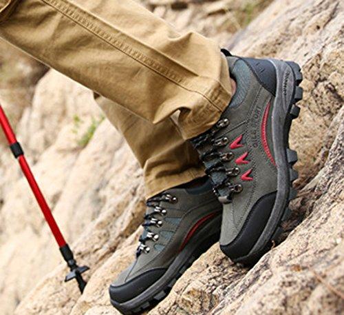 Chaussure randonné marché sportif sneakers d'air antipatinage résistance homme femme amoureux Gris