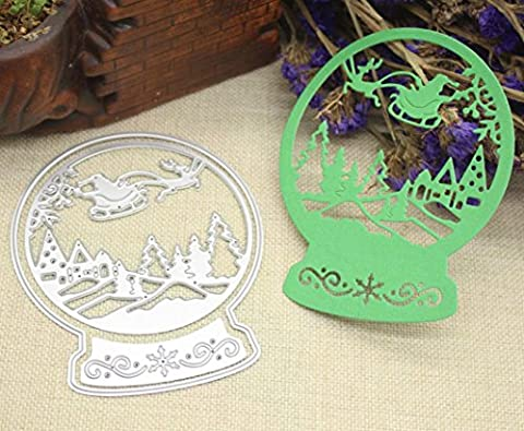 Merry Christmas Scrapbooking Die Cut,Omiky® Cutting Die Template 3D Stereoscopic