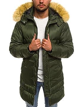 ozonee Chaqueta de invierno hombre chaqueta parka chaqueta con capucha chaqueta de invierno abrigo de invierno...
