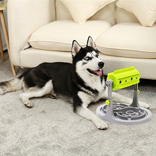 Ohana Pet 2 en 1 Perro Tratamiento dispensador Juguete con Puzzle alimentador Interactivo Tratamiento dispensador para Ejercicio Mental para Cachorro Pequeño Mediano y Grande Perros