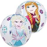 com-four® 2X Wasserball, Beachball mit Motiven von Anna, ELSA und Olaf aus dem Disneyfilm Die Eiskönigin, Ø 50 cm (Ø 50 cm - 02 Stück Die Eiskönigin)