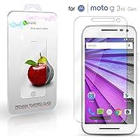Motorola Moto G 3rd gen proteggi schermo, eProte protezione schermo vetro temperato per Motorola Moto G / Gen 3, Moto G3 - 5.0 pollici - vetro di durezza 9, antiurto, antischegge, antigraffio, rivestimento oleorepellente, trasparenza in HD