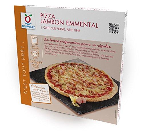 TOUPARGEL - Pizza Jambon emmental - 355 g - Surgelé