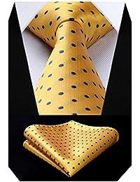 3de3145194626 BIYINI Men's Polka Dot Tie Handkerchief Jacquard Woven Classic Men's Necktie  & Pocket Square Set